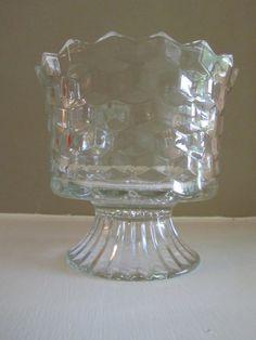 Vintage American Fostoria Glass Pedestal Bowl by NatureColorLovers, $25.00