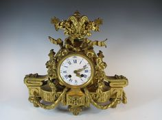 19th C French Japy Freres bronze clock : Lot 300