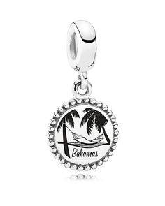 Pandora Dangle Charm - Sterling Silver Unforgettable Moment Bahamas, Moments Collection