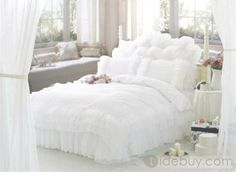 Pure Jacquard 4 Piece Bedding Sets With Lace Full Size : Tidebuy.com