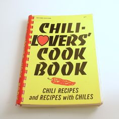 Vintage Cookbook Chili Lovers Cook Book Chili Recipes by efinegifts on Etsy