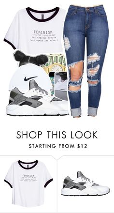 """Untitled #312"" by mindset-on-mindless ❤ liked on Polyvore featuring beauty, H&M and NIKE"