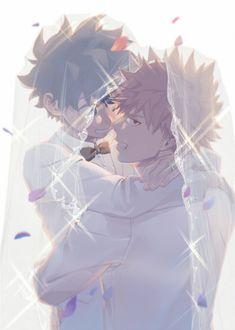 Getting married huh? My Hero Academia Shouto, My Hero Academia Episodes, Fanarts Anime, Anime Characters, Collage Mural, Lgbt Anime, Deku Anime, Deku Boku No Hero, Bakugou Manga