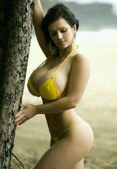 PORN BABES - Ur Dream Girls: Denise Milani on the beach in skimpy yellow bikini Bikini Babes, Sexy Bikini, Bikini Girls, Bikini Models, Thong Bikini, Photos Free, Hot Girls, Denise Richards, Yellow Bikini