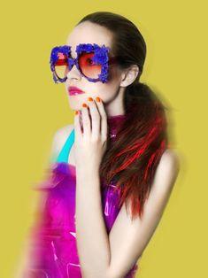 - Mercura NYC - est 1976, purple baroque sunglasses -