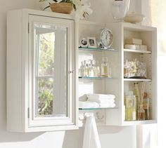 Modular Wall Mirrored Cabinet, White $200/each