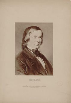 Robert Schumann (1810-1856), photograph (1871), by Friedrich Bruckmann (1814-1898), of a painting (1871), by Carl Jäger (1833-1887). Published in Gallerie deutscher Componisten.