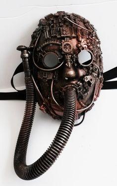 Smoked Glass Goggles steampunk respirator mask, - Steampunk Steampunk Clothing - Smoked Glass Goggles