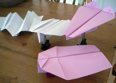 There are several different paper airplane styles with boomerang action.