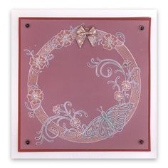 Jayne's Butterfly, Jayne's Flourish and Nested circle plate Groovi card created by Emma Burns