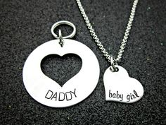 Daddy / Baby Girl Keychain Necklace Set by EvilAngelDesign
