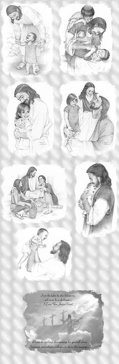"Jesus Cares for the little ones in every family, he says ""suffer little children to come unto me"""