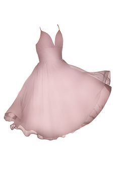 Marilyn Monroe style dress. Chiffon, can be made with thicker straps. Shown in Dusky Rose, available in 65 colors and they will size to your bust, waist, hip and length.