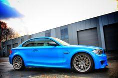 BMW 1M Avery SWF Intense Blue Carwrap by StickySigns