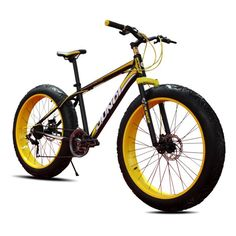 SOGAR New 26' Removable Bicycle 21 Speed Mountain Bike with 4.0 Wheels for Beach/Mountain/Snow,4 Colors * Click on the image for additional details.