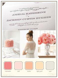 Romantic colour palette