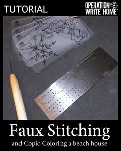 Tutorial - Faux Stitching