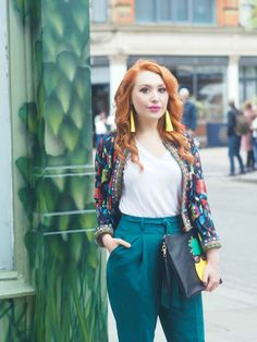 Blogger Twenty-Something City in Manchester wearing Shein colourful spring jacket Manchester Northern Quarter, Spring Jackets, Colorful Fashion, The Twenties, Fashion Inspiration, I Am Awesome, Sweatpants, City, Summer