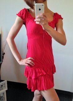 Kaufe meinen Artikel bei #Kleiderkreisel http://www.kleiderkreisel.de/damenmode/klassische-kleider/65558658-rotes-kleid-mit-raffungen-und-schnurung