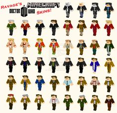 Doctor Who Minecraft Skins - Original Collection by OtakuRavage.deviantart.com on @deviantART (Doctor Who + Minecraft = AWESOME)