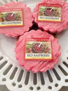 Yankee Candle RED RASPBERRY  3 TARTS WAX MELTS  New Spring Fragrance #YankeeCandle