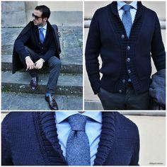 #AlphaStudio & Il Blog del Marchese per la collezione Fall/Winter 2014: cardigan collo sciallato in merinos pesante   #fw2014 #knitwear #knit #menswear #menstyle #mensfashion #fashion #moda #style #stylish #stylishoutfit #shawl #cardigan #pull #picoftheday #pic #instagood #instafashion #florence #glamour #merinos #wool #gauge #yarn #stitch