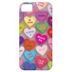 Candy Hearts Phone Case iPhone 5 Cases