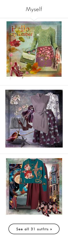"""""""Myself"""" by saponacsve ❤ liked on Polyvore featuring Etro, Miu Miu, Handle, Burberry, Thierry Lasry, Erdem, Chico's, forme d'expression, Bottega Veneta and Casadei"""