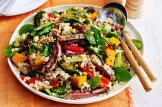 Autumn beef and quinoa salad