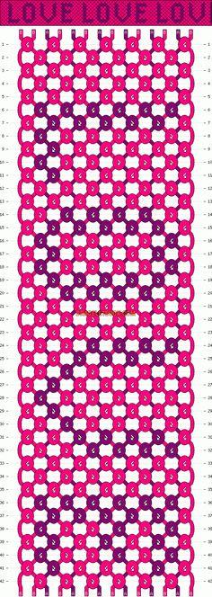 Normal Friendship Bracelet Pattern #1396 - BraceletBook.com