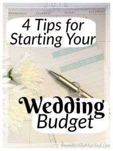 basic wedding budget
