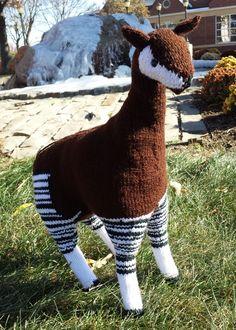Knitted Okapi
