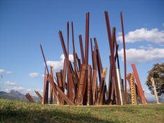 Chris Burden, Beam Drop, 1984/2008. As installed at Instituto Inhotim in southeast Brazil. - Brumadinho, Minas Gerais