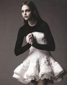 Sasha Pivovarova for Numero #73 photographed by Greg Kadel