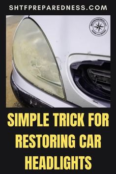 Did you know that there are some very simple tricks for restoring car headlights? SHTF Preparedness wants to share how to do this with you! Regardless of the design, make, or model of your car, this advice will be relevant and useful to you. Check it out now for more details. #carheadlights #headlights #restoringcarheadlights #howtorestorecarheadlights Best Money Saving Tips, Car Headlights, Great Life, Useful Life Hacks, Shtf, Easy Diy Projects, Lifehacks, Frugal, Diy Ideas