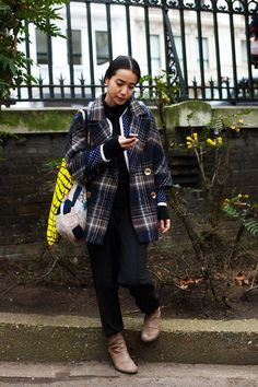 On the Street……Plaids & Dots, London « The Sartorialist