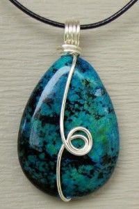 Teardrop Bead Wire Wrap Pendant