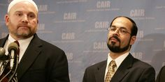 The Council on American Islamic Relations' National Communications Director and spokesperson Ibrahim Hooper (left) with founder and Executive Director Nihad Awad (right. (Photo: © Reuters)