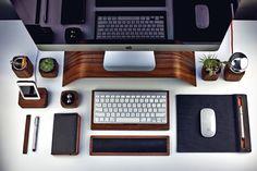 Schreibtisch Zubehör –Mauspad, Tastaturablage&Co aus Holz #amazon #holzmauspad #grovemade #gaming #desk #appletastatur #ausholz