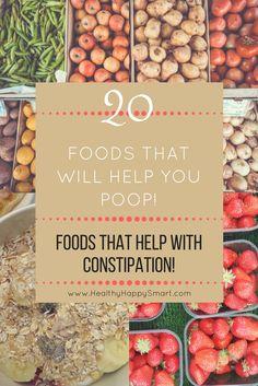 Foods that help with constipation. Foods that help you poop. High fiber foods, high fiber snacks! List of foods. #HighFiberFood #HighFiber #Constipation #HealthyDiet