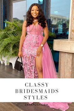 I am excited to be sharing these bridesmaids styles. Printed Bridesmaid Dresses, African Bridesmaid Dresses, African Wedding Attire, Bridesmaid Outfit, Wedding Bridesmaid Dresses, Bridesmaids, African Attire, African Dress, Ankara Long Gown Styles