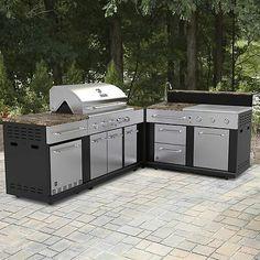 Shop Master Forge 3 Burner Modular Outdoor Sink And Side