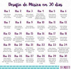 Desafio de Música em 30 Dias – Dia 24 – ser inquieto Music Challenge, 30 Day Challenge, Challenge Accepted, Instagram Blog, Instagram Story, Bullet Journal Tracker, Sad Life, Better Life, Writing Prompts