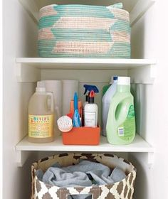 "A washed-and-folded laundry basket for each bedroom answers the perpetual question ""Where's my favorite shirt?!"""