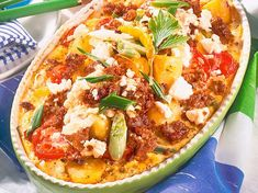 Greek-style Hack Casserole Recipe DELICIOUS - Our popular Greek-style recipe for hack casserole and over other free recipes LECKER. Healthy Diet Recipes, Cooking Recipes, Popular Recipes, Free Recipes, Diet And Nutrition, Casserole Recipes, Vegetable Pizza, Clean Eating, Paleo