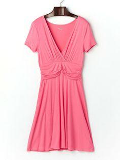Three Dots - stretch drape coeur-style short-sleeved dress
