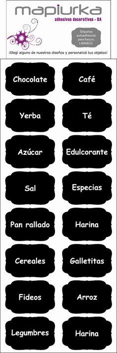 Etiquetas Mapiurka para identificar tus frascos Facebook: https://www.facebook.com/mapiurka.adhesivosdecorativos