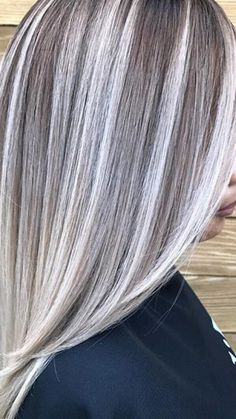 Hair Highlights And Lowlights, Gray Highlights Brown Hair, Grey Hair Transformation, Silver Blonde Hair, Transition To Gray Hair, Low Lights Hair, Hair Color And Cut, Hair Today, Balayage Hair