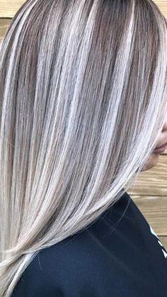 Grey Hair Transformation, Hair Highlights And Lowlights, Silver Blonde Hair, Transition To Gray Hair, Low Lights Hair, Hair Color And Cut, Hair Today, Balayage Hair, Short Hair Styles
