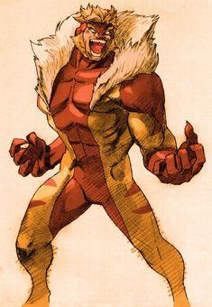 Sabertooth (for Marvel Vs. Capcom 2). Art by Bengus.